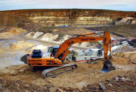 limestone quarry, mine discharge