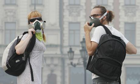 gas mask, air pollution