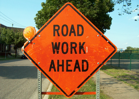 transportation, road work ahead