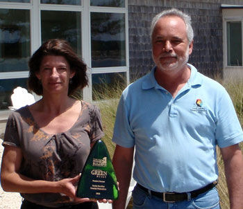 Lauren-Kolodij-and-Todd-Miller-of-the-N.C.-Coastal-Federation-accepted-the-Coastal-Green-Built-Award-on-May-4-2012-awarded-by-the-Wilmington-Cape-Fear-Home-Builders-Association