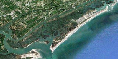 Mad Inlet, a small inlet between the south end of Sunset Beach and Bird Island that has opened and closed over the years, is the site of a proposed oceanfront housing development. File photo