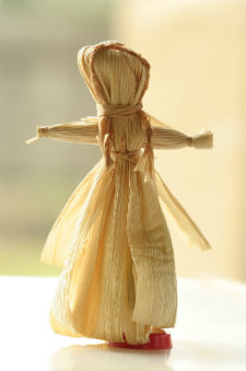 Islanders who celebrated Old Christmas would exchange simple, homemade gifts, like this corn-husk doll.