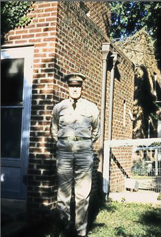 Earl O'Neal in 1956 at his home in Arlington, Va. Photo courtesy: Earl O'Neal