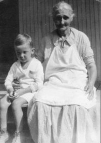 Earl O'Neal as a young boy with his grandmother in Ocracoke. His father's genealogy traces back to the 1700s being on the island. Photo courtesy: Earl O'Neal