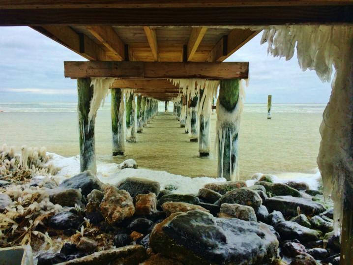 Frozen Pamlico Sound by Randi Machovec