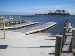 The new ramps and docks are designed for both recreational and commercial fishing boats. Photo: N.C. Wildlife Resources Commission