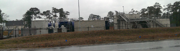 The private sewer plant at Bogue Watch could be turned into a regional plant. Photo: Frank Tursi, Coastal Review Online