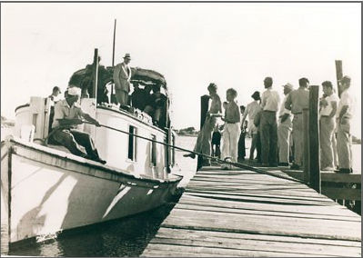 The Aleta arrives to a crowd at the dock in Ocracoke. Photo: Island Free Press
