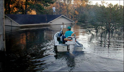 States risk planning for disasters like this flood in Edgecombe County if they fail to include risk assessments for climate change in their disaster plans. Photo: NOAA