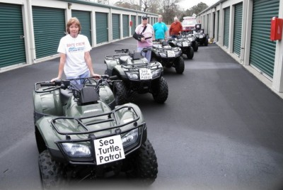 It's a sure sign of spring when NEST volunteers get their ATVs ready for beach patrols. Photo: NEST