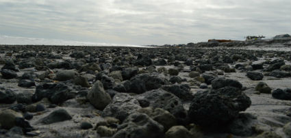 The rocks on and below the surface will make it tough on nesting sea turtles, federal officials say. Photo: Mike Giles