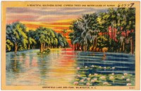 Greenfield Lake, depicted in this early 1900s postcard, figured prominently in the development of the club. Photo: UNC