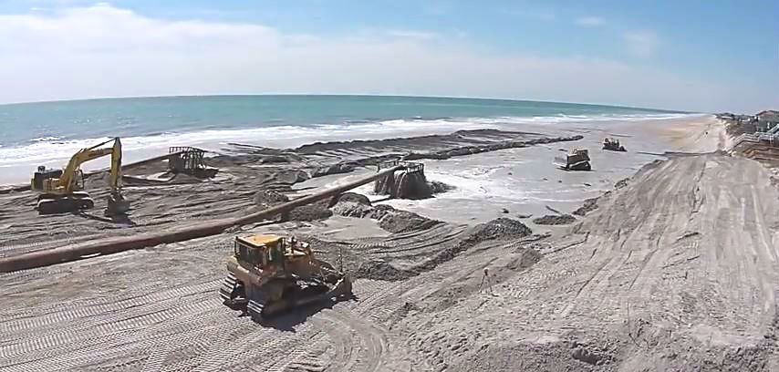 North Topsail Beach's nearly $17 million beach-renourishment project was completed June 30, 2015.