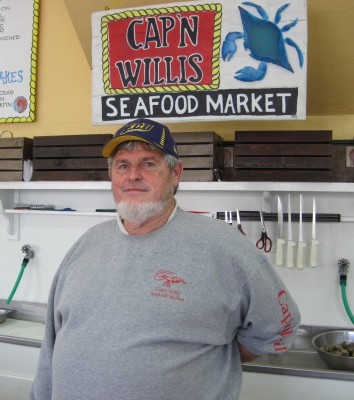 Bland waxes about the fishermen and fish houses he knows up and down the N.C. coast, like Neil Smith of Captain Willis Seafood Market in Emerald Isle. Photo: Sam Bland