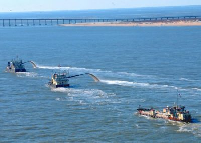 Dare County is partnering with the state and the Army Corps of Engineers on a $7.3 million plan to dredge the inlet 340 days a year. Photo: Dredging Today