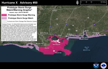 Storm surge graphics will be issued when storms threaten. Graphic: NOAA