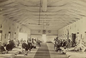 It's estimated that about 10,000 Union soldiers died of malaria during each year of the Civil War. Many of the survivors were brought here to the Amry Square Hospital in Washingto. Photo: civilwaracademy.com