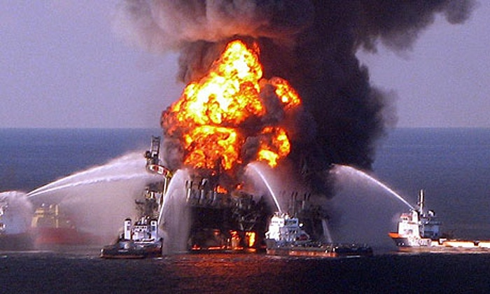 Eleven people died when BP's Deepwater Horizon rig exploded, causing the worst oil spill in U.S. history. Photograph: AFP/Getty Images