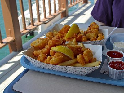 Fried seafood is a favorite on the N.C. coast. Photo: Wikipedia Commons