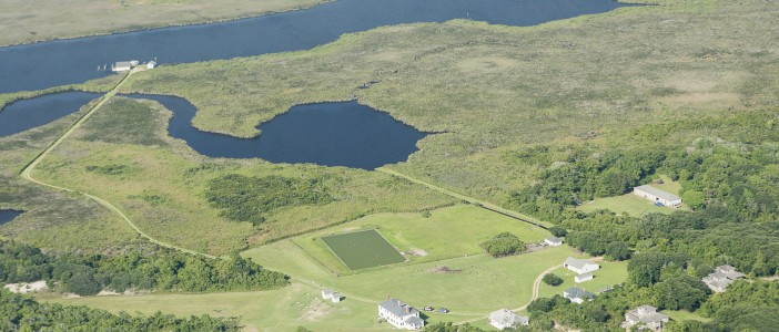 An aerial view of a portion of the Pine Island Sanctuary. Photo: National Audubon Society