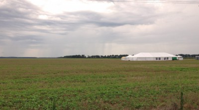 Shown is the site of Amazon Wind Farm US East, operated by Iberdrola Renewables at Desert Wind. Photo: Elizabeth City and Pasquotank County Economic Development Commission