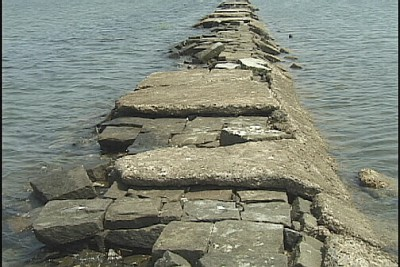 The Rocks are shown close up. Photo: