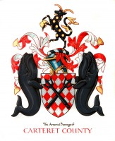 North Atlantic right whales are depicted in the official Carteret County seal..