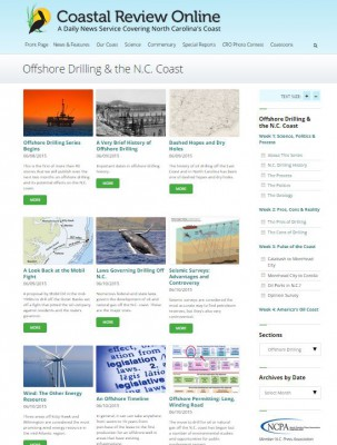 CRO is being recognized for its environmental reporting, such as the series on offshore oil and gas.