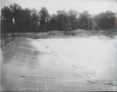 Lock and Dam No. 1 was completed in 1915 at a cost of about $2.4 million. Photo: Corps of Engineers