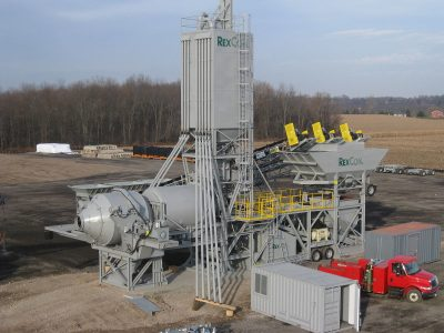 A concrete batch plant. Concrete plants can produce low levels of emissions and may be exempt from permits under DENR's proposal. Photo: Wikimedia Commons