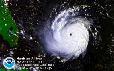 El Ninos don't mean no hurricanes. Hurricane Andrew, one of the strongest Atlantic hurricanes, struck South Florida during  a strong El Nino year.  Photo: NOAA