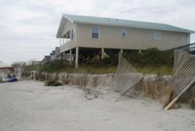 Officials says the terminal groin project is needed to address erosion and protect infrastructure, roads, homes, beaches, dunes and wildlife habitat in Holden Beach. Photo: Corps of Engineers