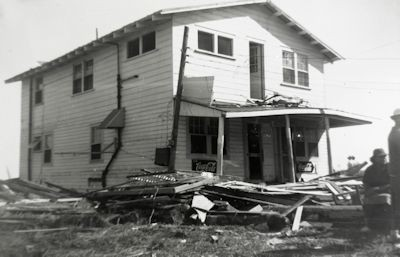 Hurricane Hazel in 1954 dealt Seabreeze a terrible blow. Photographed by W. T. Childs, October 1954. Photo: Cape Fear Museum of History and Science, Wilmington