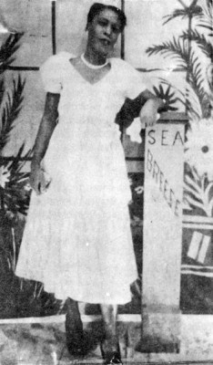 """A woman poses for her photograph in Seabreeze. Photographer and date unknown. Photo: SlapDash Publishing, from the book """"Carolina Beach Volume 2"""" by Daniel Ray Norris"""