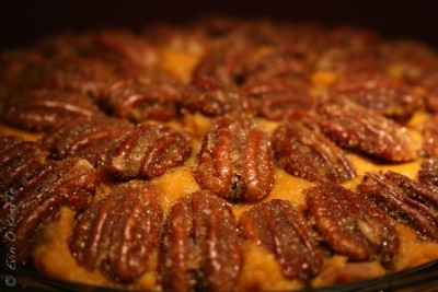 Rather than the familiar gooey marshmallows, many chefs choose toppings such as pecans for sweet potato casserole. Photo: FreckledPast, Flickr, Creative Commons