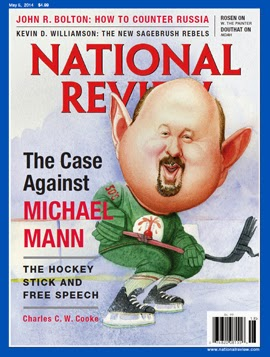 Michael Mann has been at the center of the ginned up debate about debate about climate change. Caricatures of him ended up on the cover of conservative magazines like this in in 2014.