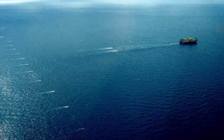 Seismic surveying being done off the coast of Namibia. Photo: offshoreenergytoday.com