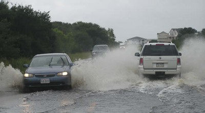 Stormwater, including runoff from Highway 12, eventually makes its way to ocean outfalls. Photo: Island Free Press