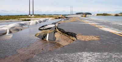 Superstorm Sandy also left its marks on Hatteras Island.
