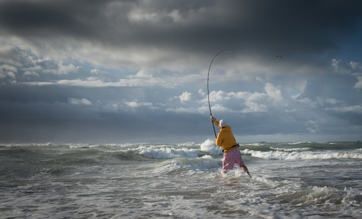 Fishing at the Point.