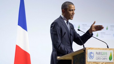 President Barack Obama addresses climate change during the Paris conference. Photo: White House