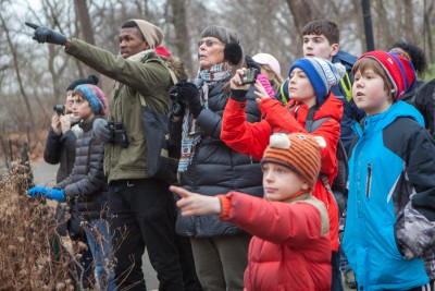 People of all ages can take part in the annual Christmas Bird Count. Photo: National Audubon Society