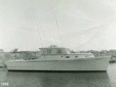 The Deepwater, shown in this 1959 photo, had a long, memorable and distinguished life taking fisherman out of Oregon Inlet. Photo: deepwatermanteo.com