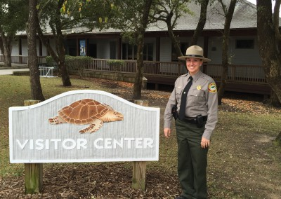 Sarah Kenrdrick rose through to become the new superintendent at Hammocks Beach State Park. Photo: Hammocks Beach State Park
