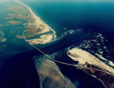 Shown is the Herbert C. Bonner Bridge as captured in a June 8, 2008, aerial photo. Photo: North Carolina Department of Transportation