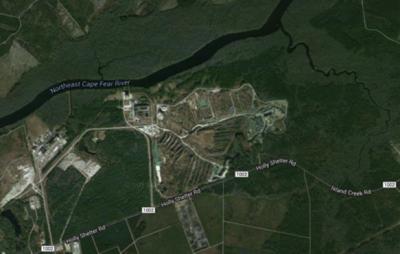 Shown is an aerial view of the Titan site. Photo: N.C. Coastal Federation