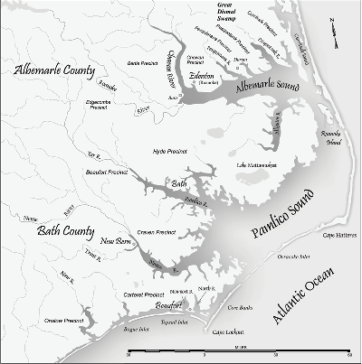 """Currituck Sound, in the far northeast corner of coast, flows slowly south into Albemarle Sound and is one of the key pieces of North Carolina's vast inshore estuary. Photo"""" NC pedia"""