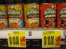 A new variety of Chef Boyardee on the shelves at Charlie's Grocery were cause enough to rejoice. Photo: freetastesgood.com