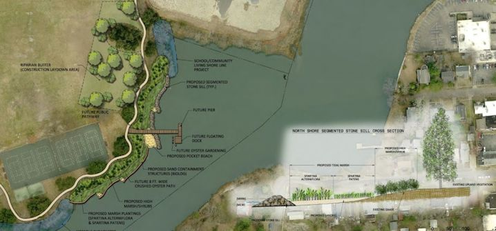 AN extensive living shoreline project is planned for portions of the Lafayette River in Norfolk, Va. Photo: Clarknexsan