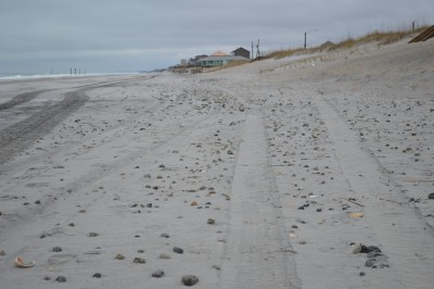 Wildlife officials say large concentrations of rocks still pepper the beach on and below the sandy surface above the high-tide line. Photo: Mike Giles